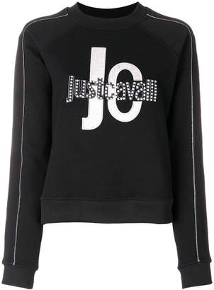 Just Cavalli logo print cropped sweatshirt