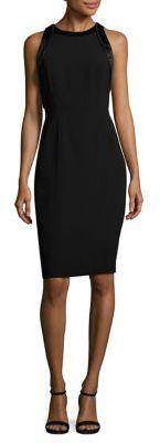 Carmen Marc Valvo Crepe Cocktail Dress $750 thestylecure.com