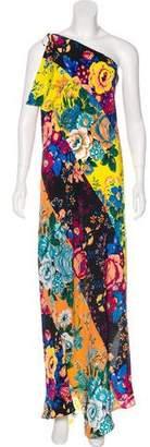 Diane von Furstenberg Printed One-Shoulder Maxi Dress