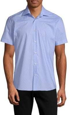 Squares Cotton Printed Shirt