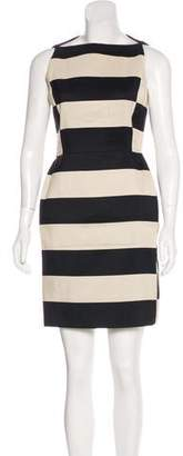 Lanvin Striped Mini Dress