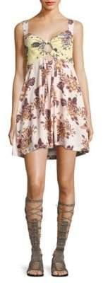 Free People Floral-Print Mini Dress