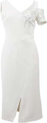 Antonio Berardi Off Shoulder Embroidered Dress