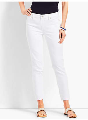 Talbots Pineapple-Embellished Slim Ankle Jean