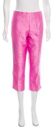 Ralph Lauren Black Label Mid-Rise Silk Pants