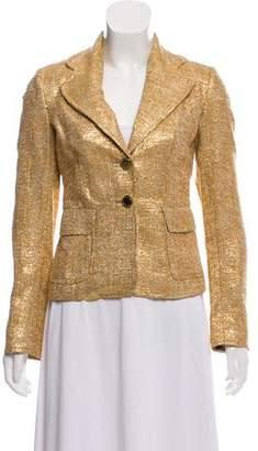 Dolce & Gabbana Tweed Metallic Blazer