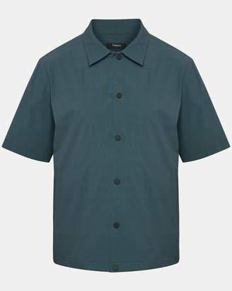 Theory Disc-Print Short-Sleeve Shirt Jacket