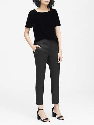 Banana Republic Petite Avery Straight-Fit Metallic Ankle Pant