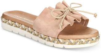 Andre Assous Sariah Flat Espadrille Slip On Sandals