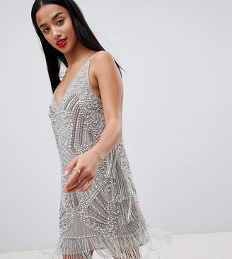 Asos EDITION Petite embellished cami mini dress