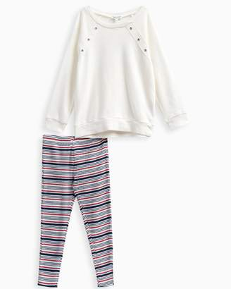 Splendid Little Girl Grommet Sweatshirt Set