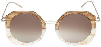 Donna Round Acetate Sunglasses $242 thestylecure.com