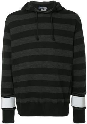Junya Watanabe reflective striped hoodie