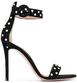 Gianvito Rossi pearl embellished stiletto sandals