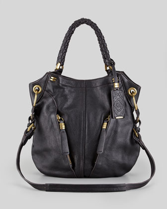 Oryany Gwen Leather Shoulder Bag, Black