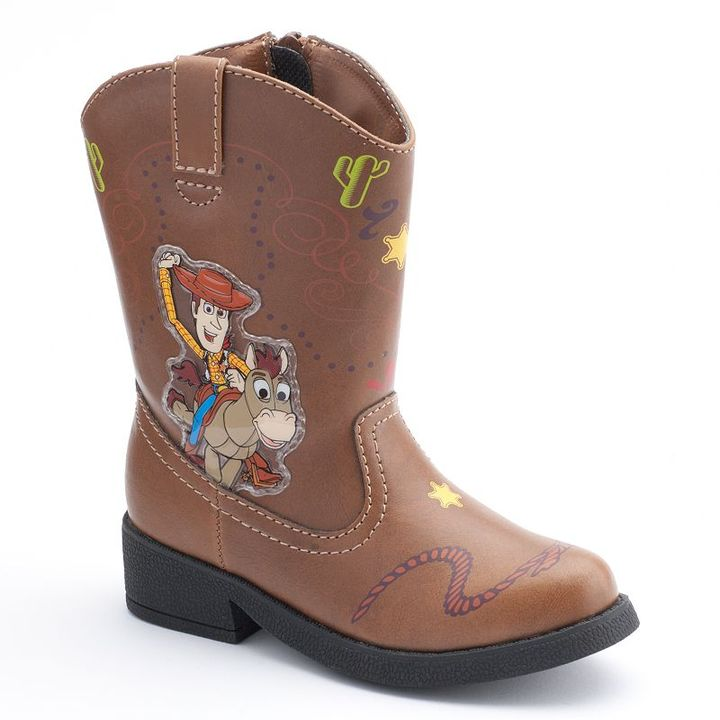 Toy Story Boots For Boys : Disney pixar toy story woody light up cowboy boots
