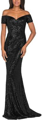 YSMei Women's Vintage Off Shoulder Long Mermaid Wedding Party Dress Sequined Formal Gown 18W