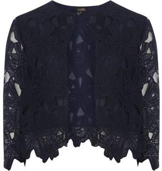 Dorothy Perkins Womens **Luxe Navy Lace Jacket