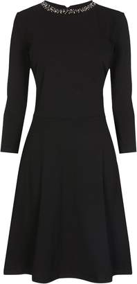 Next Womens Dorothy Perkins Tall Embellished Fitted Flare Dress