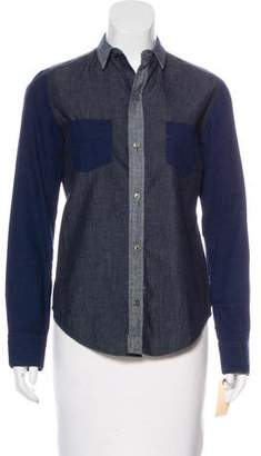 J Brand Long Sleeve Button-Up Top