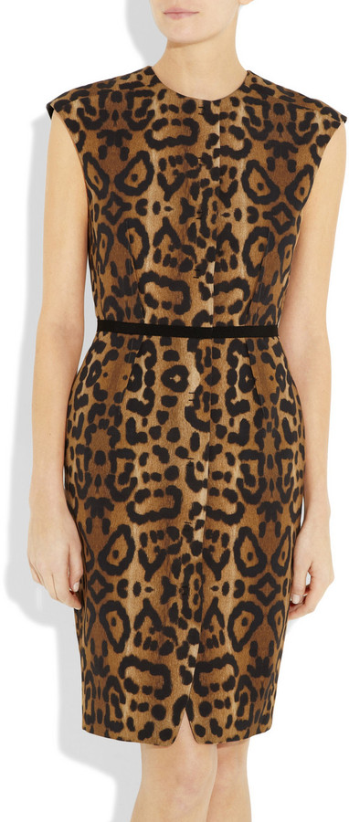Giambattista Valli Leopard-print cotton dress