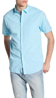 Indigo Star Karev Short Sleeve Solid Woven Tailored Fit Shirt