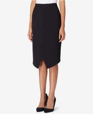 Tahari ASL Asymmetrical Wrap Skirt