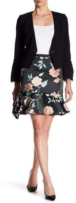 Nanette Lepore NANETTE Floral Jacquard Trumpet Skirt