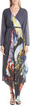 Vetements Mixed Print Robe Dress