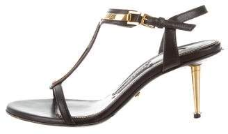 Tom Ford Leather High-Heel Sandals