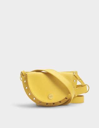 See by Chloe Kriss Belt and Crossbody Mini Shoulder Bag in Bright Gold Suede
