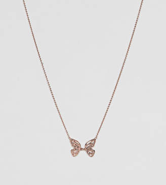 Olivia Burton 18k Rose Gold Plated Butterfly Necklace
