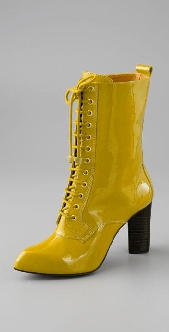 Pour La Victoire Jeana Patent High Heel Granny Boot