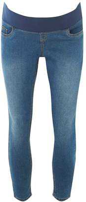Dorothy Perkins Womens **Maternity Mid Wash Cropped Jeans