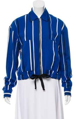 Diane von Furstenberg Striped Zip-Up Jacket
