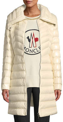 Moncler Faucon Fitted Puffer Coat
