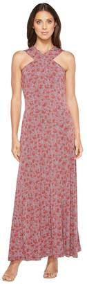 MICHAEL Michael Kors Augusta Cross Neck Maxi Women's Dress