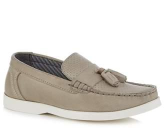J by Jasper Conran 'Boys' Grey Leather Loafers