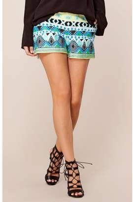 Hale Bob Lillian Embroidered Shorts