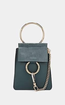 Chloé Women's Faye Mini Leather & Suede Bag - Blue