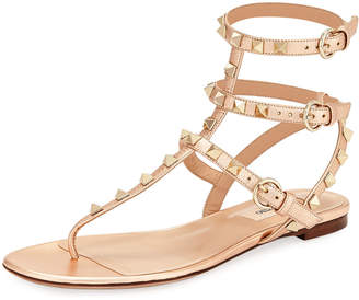 Valentino Rockstud Leather Thong Sandal