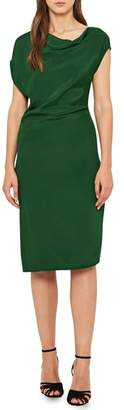 Reiss Lore Asymmetrical Cap Sleeve Dress