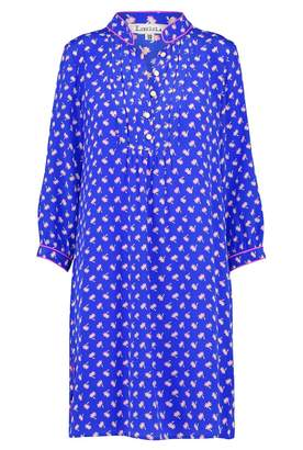 Libelula Chloe Dress Bright Blue Palm Tree Print