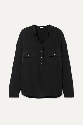 Stella McCartney Estelle Silk Crepe De Chine Shirt - Black