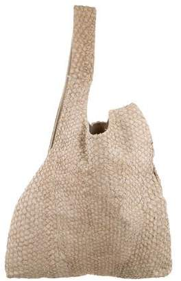 Helmut Lang Distressed Leather Shoulder Bag