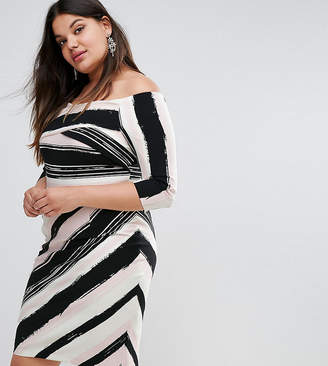 Bardot Coast Plus Colombus Striped Pencil Dress