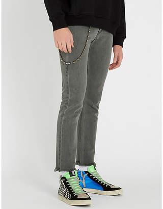 Enfants Riches Deprimes Frayed-hem slim-fit tapered jeans