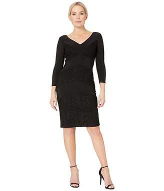 Lauren Ralph Lauren 1T Matte Jersey Namaka 3/4 Sleeve Day Dress