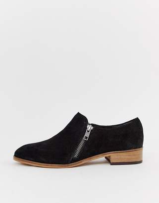 Asos Design DESIGN Moorgate suede slip on flat shoes