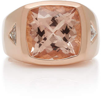 Jacquie Aiche One-Of-A-Kind Square Morganite Signet Ring